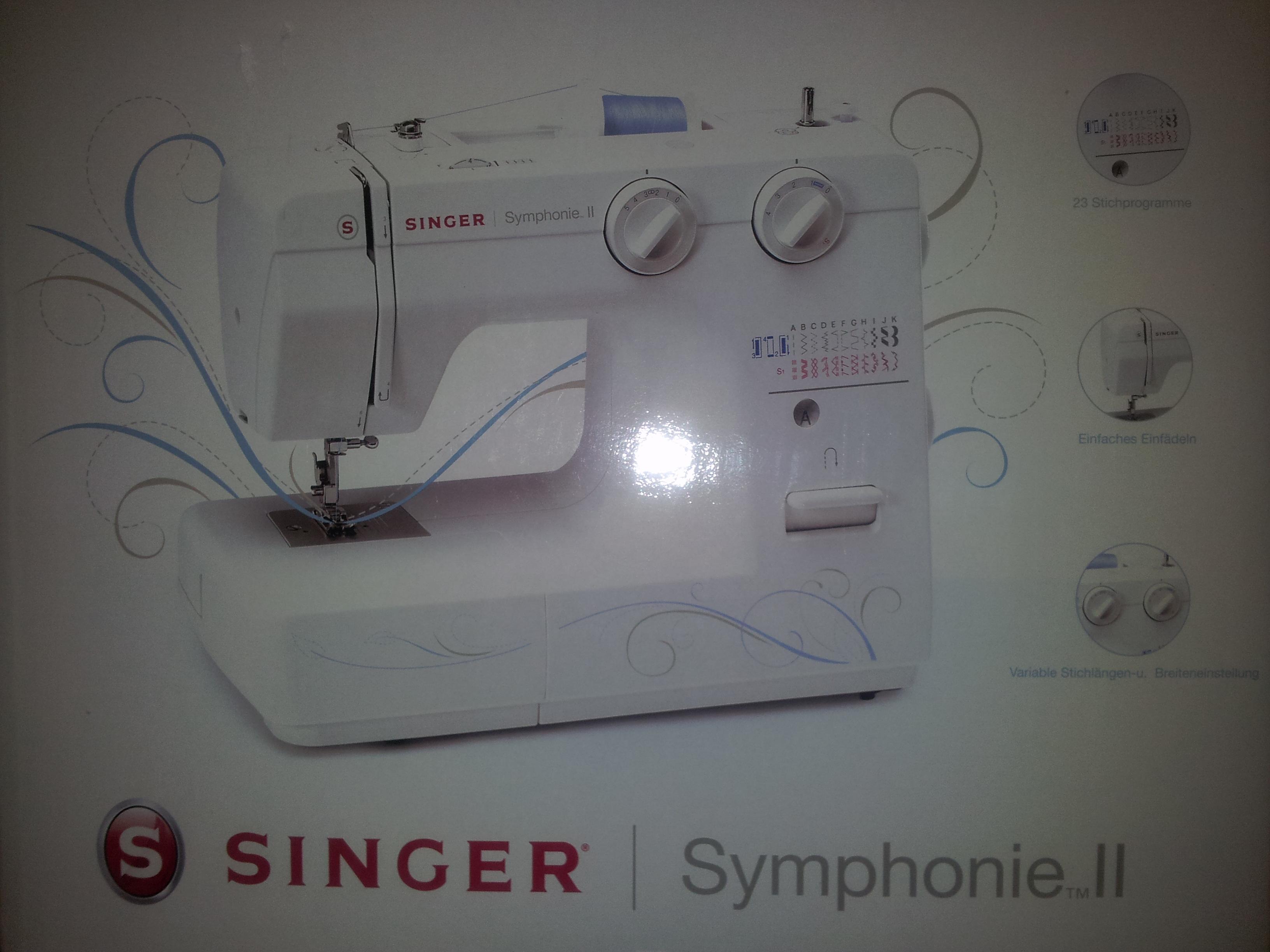 singer n hmaschine symphonie ii neuware ovp. Black Bedroom Furniture Sets. Home Design Ideas